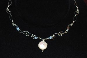 Leafy Pearl Necklace by Adornments