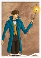 Newt Scamander by TheWatcherOnTheWall