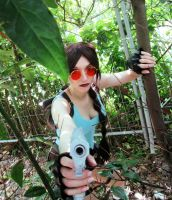 Exploring forest ~ Lara Croft TRA cosplay by SerahChan