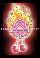 Old school heartagram by PoisonAlice