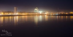 Blue Nile River at night by zooz898