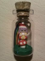 Bottle 4 cm with Memole fimo by bimbalove81