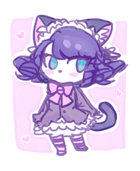 Cyan Doodle by kittybf