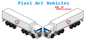 Vehicle Pixel Art DAF XF With Trailer by Luckymarine577