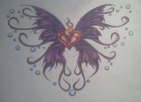 heart butterfly by AnythingButThat