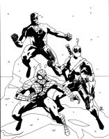 MARVEL RED TEAM INKS by future-parker