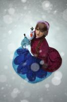 Anna and Olaf (Winter ver.) [ Frozen ] by kokoammm