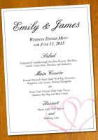 Wedding Menu Template by danbradster