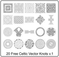 20 Free Celtic Vector Knots v1 by ghosteater