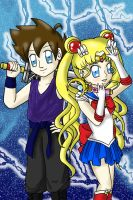 Nikku Vs Sailor Moon by lillilotus