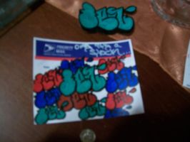 my first throwie by shortylego10