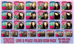 SNSD Love and Peace Folder Icon Pack by Rizzie23