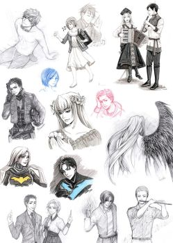 Fanarts sketches 1 by Vassantha