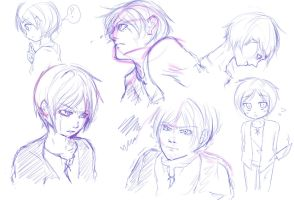 Eren Sketches by XxNowLoadingxX