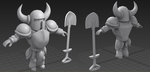 Shovel Knight model WIP by Smearg