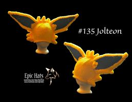 Jolteon Inspired Knit Hat by aetherfang