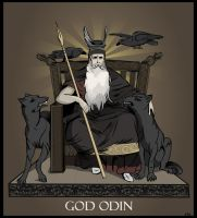 Vector Art - God Odin by rames
