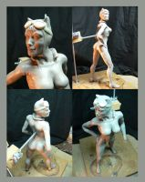 Catwoman sculpt WIP. by Leebea