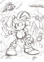 Sonic adventures sketch by xAndyLG