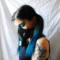 Me mask, .turquoise mood. 4 by SilvieT-Stock