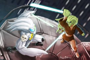 The Ankhgorian Vs Kit Fisto by Gavin Michelli by Estonius
