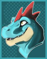feraligatr bust by FiveSpice