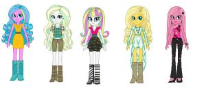 My OCs as Equestria girls! by Donttouchmykitty