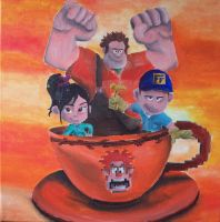 Wreck It Ralph in Tea Cup by billywallwork525