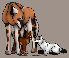 Pira, Ares and Evan by Finchflight