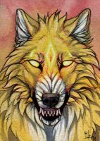 Wrath of god - ACEO for Siljaaz by wolf-minori