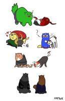Kitty Avengers. Meow! by artbok