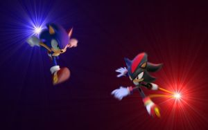 Sonic vs Shadow Wallpaper by TeranisTheLastWolf