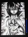 Light vs Darkness - Zeref and Mavis by InlineSpeedSkater