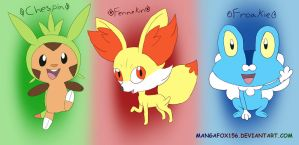 Pokemon X and Y Starters by MangaFox156