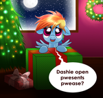 Dashie's First Christmas by Raven-Sunshine