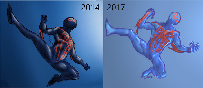 Draw This Again - Spidey 2099 by LEMOnz07