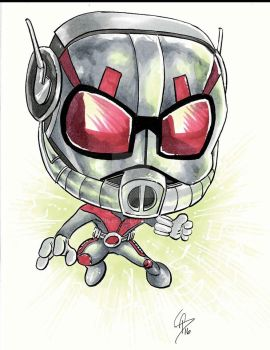 Antman Chibi Sketch by tbeistel