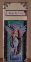 Angel In Blue Birthday Card by blackrose1959