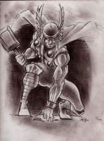 Thor the Mighty god of Thunder by Lorredelious