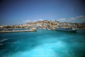 Greek Port of Paros by drewhoshkiw