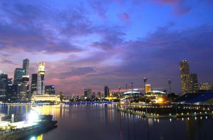 Singapore in Purple by girl