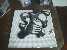 Pokemon #105 Marowak Hama Bead by hairybeny