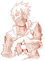 Kakashi, a Sloth, and the color Red by KristaDLee