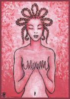 Woman ACEO Think Pink IV by ATCs-By-Faeorain