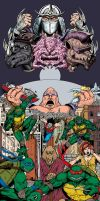Unfinished Mega TMNT Artwork by leandro-sf