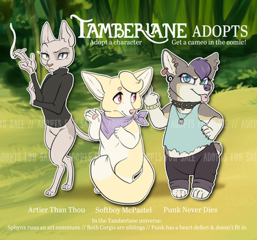 [CLOSED] Tamberlane Adopts - ADOPT AUCTION by Pixel-Prism