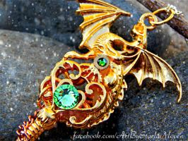 Golden Dragon Key by ArtByStarlaMoore