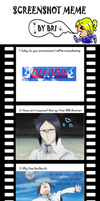 Screenshot meme: Bleach by AuraTheWolf