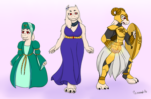 Toriel stages by PoisonDIlu