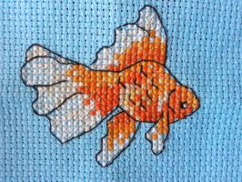 Fluffy The Fantail - Cross stitch by Jetstream1118